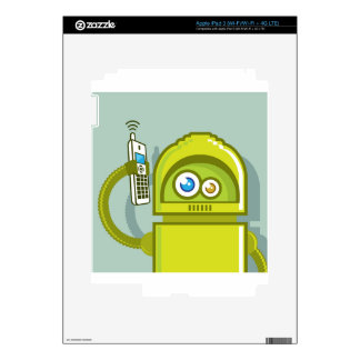 Robot on The Phone Vector Icon iPad 3 Decal