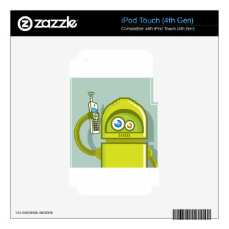 Robot on The Phone Vector Icon iPod Touch 4G Decals