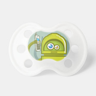 Robot on The Phone Vector Icon Pacifier