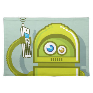 Robot on The Phone Vector Icon Placemat