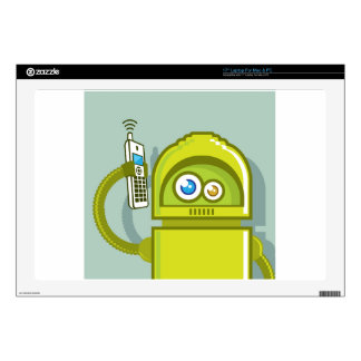 Robot on The Phone Vector Icon Skin For Laptop
