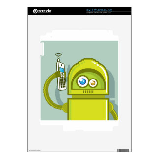 Robot on The Phone Vector Icon Skin For The iPad 2