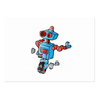 robot on wheel . large business card