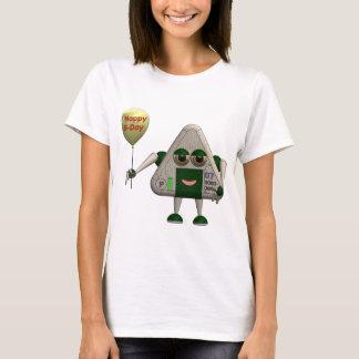 Robot ONIGIRI TRI happy birthday T-Shirt