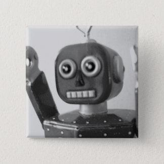 Robot Orange 2000 Pinback Button