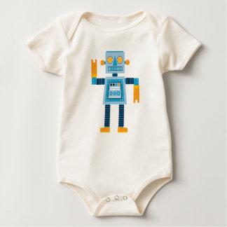 Robot original del azul del dibujo animado mameluco de bebé