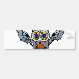 Robot Owl Car Bumper Sticker