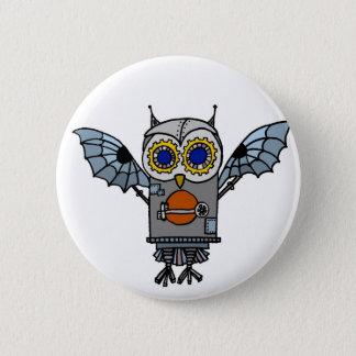 Robot Owl Button