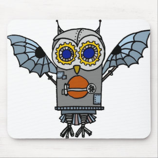 Robot Owl Mouse Pad