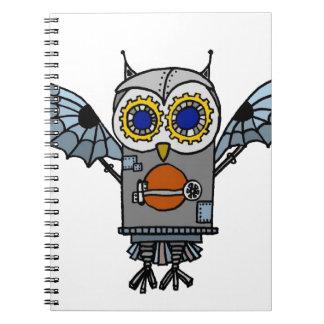 Robot Owl Notebook