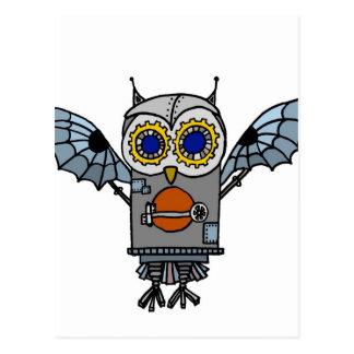 Robot Owl Postcard