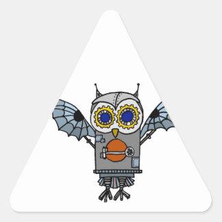 Robot Owl Triangle Sticker