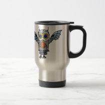 Robot Owl Travel Mug