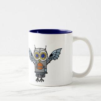 Robot Owl Two-Tone Coffee Mug