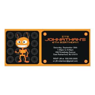 Robot Party Invitation - Orange
