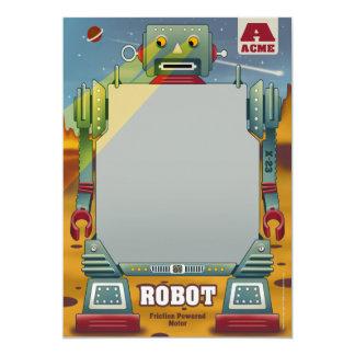 "Robot Party Invitations 5"" X 7"" Invitation Card"