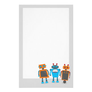 Robot Party Stationary Customized Stationery