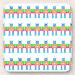 Robot pattern- beverage coasters