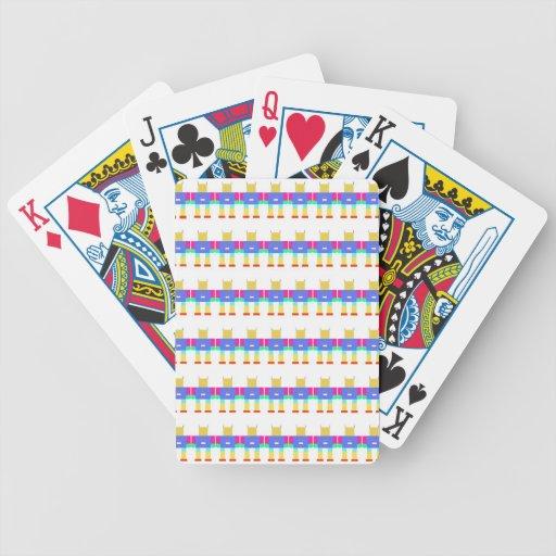 Robot pattern- bicycle card deck