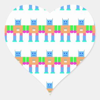 Robot pattern- heart sticker