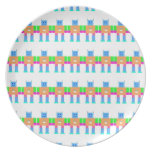 Robot pattern- party plate