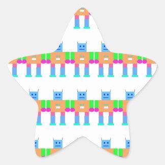 Robot pattern- star sticker