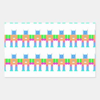 Robot pattern- rectangular sticker