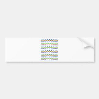 Robot patterns bumper sticker