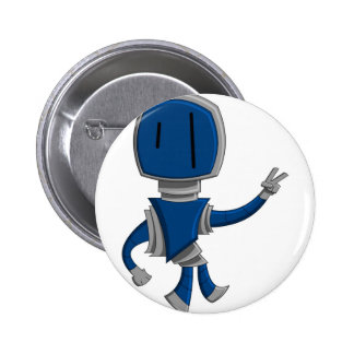 Robot Peace 2 Inch Round Button