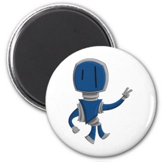 Robot Peace 2 Inch Round Magnet