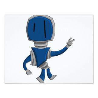 Robot Peace 4.25x5.5 Paper Invitation Card