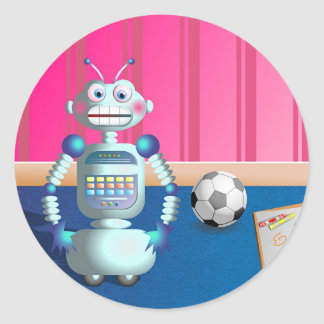 Robot Pegatinas Redondas