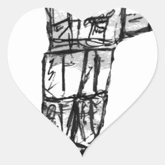 Robot Pegatina En Forma De Corazón