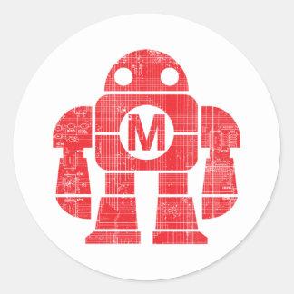 Robot Pegatina Redonda