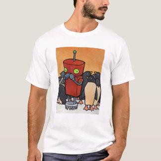 Robot & Penguins T-Shirt
