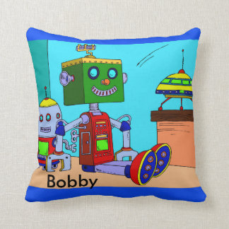 Robot Pillow Boy's Room Personalize Nap Time Play