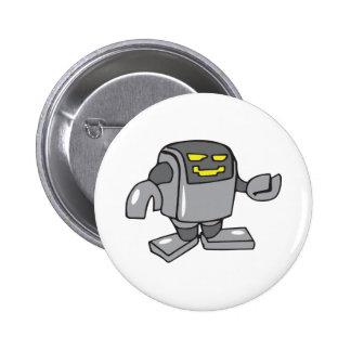 ROBOT PIN REDONDO DE 2 PULGADAS