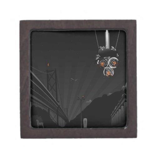 Robot pintado oscuridad fresca abstracta cajas de recuerdo de calidad