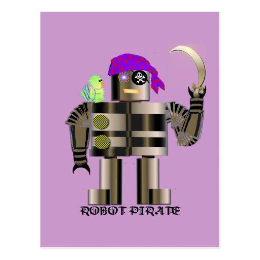 Robot Pirate Postcard