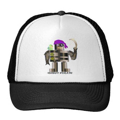 Robot Pirate T-shirts Trucker Hat
