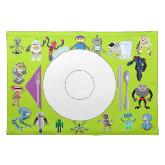 Robot place mat with correct placement of stuff