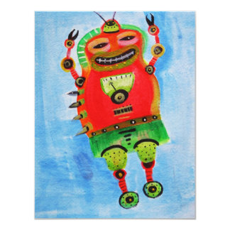 ROBOT Pop ART Card