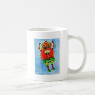 ROBOT Pop ART Classic White Coffee Mug