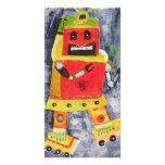 ROBOT POP ART PERSONALIZED PHOTO CARD