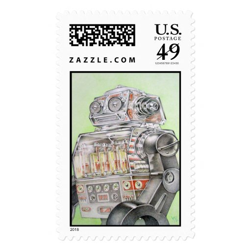 Robot Postage Stamps
