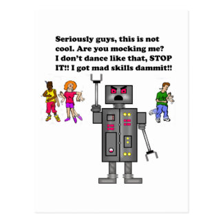 robot, postcard