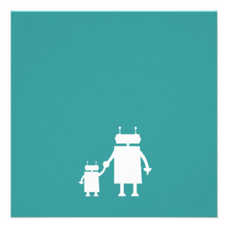 Robot Pregnancy Announcement Card