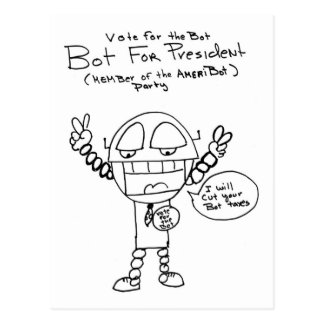 Robot Presidential Candidate Postcard