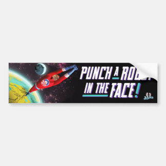 Robot Punch - Bumper Sticker