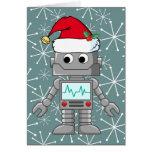 Robot que lleva el gorra de Santa Felicitación